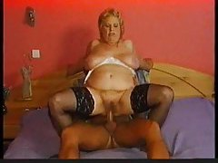 Stockings on chubby granny that wants cock tubes