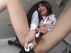 Japanese girl has spectacular hairy pussy tubes