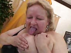 Fat mature blonde fucked in her hairy pussy tubes