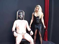 Blonde is really abusive in femdom scene tubes