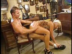 Blonde fucked hard in the antiques shop tubes