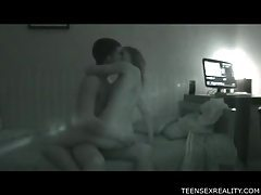 Couple making love in their amateur movie tubes