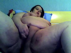 Huge fatty masturbates on her webcam tubes