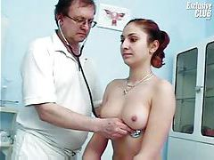 Doctor gets inside her with a speculum tubes