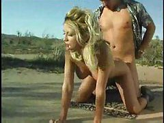 Sexy Allysin Chaynes fucked in the desert tubes