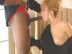 Huge black dick in blonde from classic movie tube