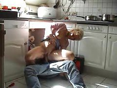 Mature calls the plumber and gets laid tubes