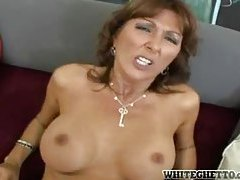 Fucking her milf tits and her wet pussy tubes