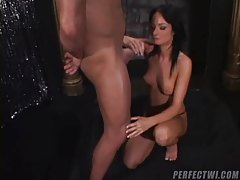 Stripper takes it all off and gives hot head tubes