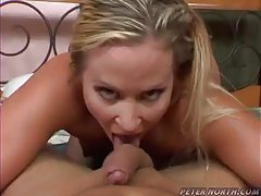 Shaved pussy girl blows and rides POV tubes