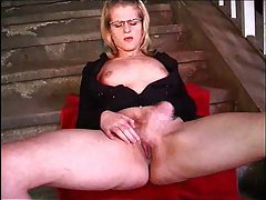 Glasses girl fucked outdoors in great scene tubes