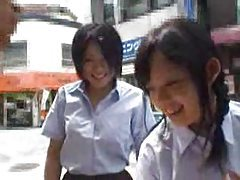 Japanese girls touch his dick in a box tubes