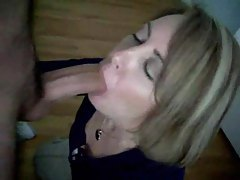 Hot wife sucks his cock and swallows tubes