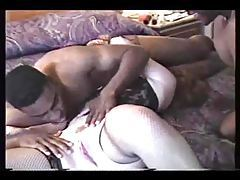 Two black guys fuck mature wife in hotel tubes