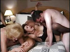 Mature sluts call guys over for an orgy tubes