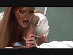 Young nurse fucked in the hospital tubes