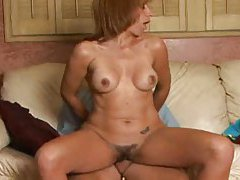 Hairy pussy mature gets this thick young cock tubes