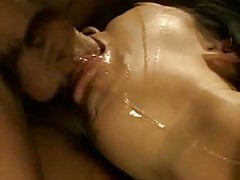 Messy throat fucking blowjob is really hot tubes