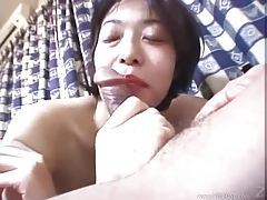 Japanese cocksucker ends up riding a dick tubes