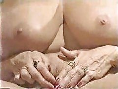 Mature blonde with her enormous clit tubes