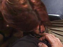 Young redheaded cock eater fucked in gym tubes