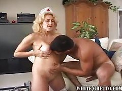Nurse milf is older, horny and taking dick tubes
