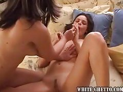 Two girls explore sexy dildo play together tube
