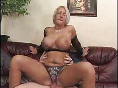 Blonde milf with big tits does BJ and hardcore tubes