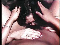 Classic lesbian porn with hairy pussy fingering tubes