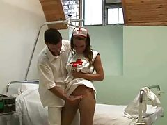 Fucking the naughty nurse in her box tubes