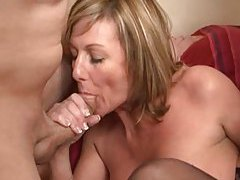 Sensual mature slut taken by two horny men tubes