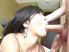 Asian babe is glamorous as she sucks cock tubes