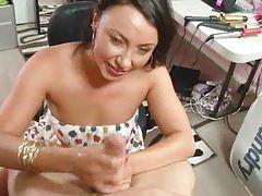 Chick gives a hot POV handjob tubes