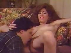 Curly-haired Kari Foxx sucking and fucking tubes
