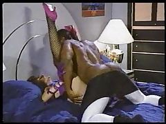 Classic interracial fuck with pornstar Sharon Mitchell tubes