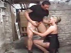 Milf is fucked by a huge dildo and a big cock tubes