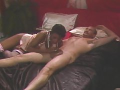 Tasty classic interracial scene with doggy style tubes