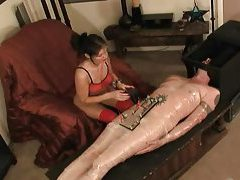 Electro shock pain for the submissive man tubes