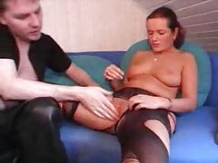 Ripped pantyhose slut gets fucked deep tubes