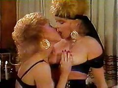Two 80s girls with big hair eat pussy tube