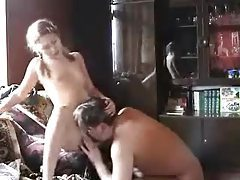 Lusty girl in pigtails fucks older man tubes