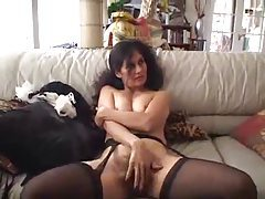 Hammering hairy milf pussy of French maid tubes