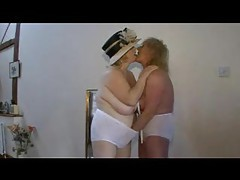Hot grannies in lingerie fingering and kissing tubes
