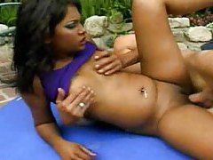 Indian girl is taking cock outdoors tubes