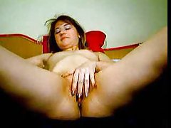 Webcam chat chick strips and rubs tubes
