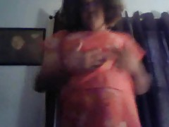 BBW dance and tease on webcam tubes