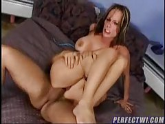 Big titty girl bouncing on the meaty cock tubes