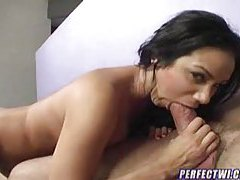He licks her pussy and he fucks her from behind tubes