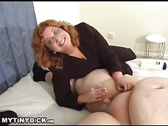 Teacher lady stroking the smallest cock ever tubes