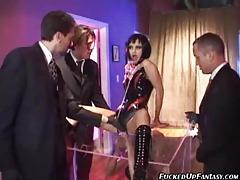Hot slave girls servicing hard cock tubes
